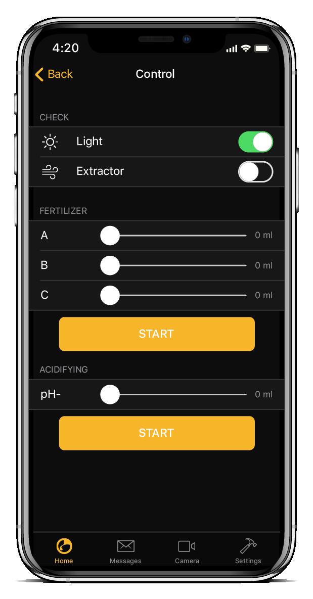 Controlla manuale dell' app per la coltivazione di NIDO